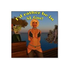"rather-be-in-slgor Square Sticker 3"" x 3"""