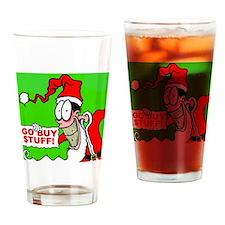 MerryChristmas GOBUYSTUFF Drinking Glass