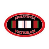 Afghanistan veteran Oval Car Magnets