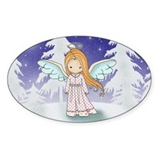 angel in moonlight card Decal