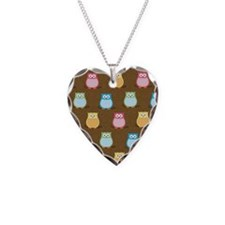 Colorful Owl Brown Trendy iph Necklace