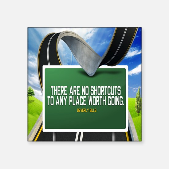 "Places Worth Going Quote Square Sticker 3"" x 3"""