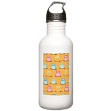 Colorful Owl Brown Tre Water Bottle