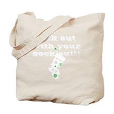 rock-white-out-sock-out Tote Bag