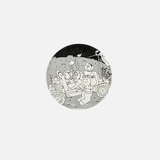 3048_space_cartoon Mini Button