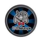 I Love Heart Efalumps Elephant Wall Clock
