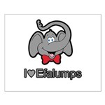 I Love Heart Efalumps Elephant Small Poster