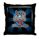 I Love Heart Efalumps Elephant Throw Pillow