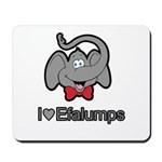 I Love Heart Efalumps Elephant Mousepad