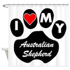 I Heart My Australian Shepherd Shower Curtain