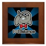 I Love Heart Efalumps Elephant Framed Tile