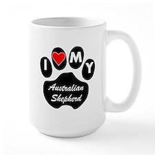I Heart My Australian Shepherd Mugs
