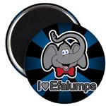 I Love Heart Efalumps Elephant Magnet