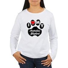 I Heart My Australian Shepherd Long Sleeve T-Shirt