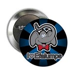 I Love Heart Efalumps Elephant Button