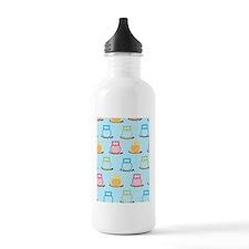 colorful Owl Blue tren Water Bottle