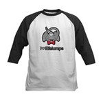 I Love Heart Efalumps Elephant Kids Baseball Jerse