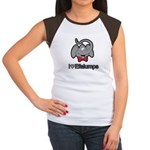 I Love Heart Efalumps Elephant Women's Cap Sleeve