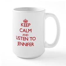 Keep Calm and listen to Jennifer Mugs