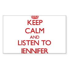 Keep Calm and listen to Jennifer Decal