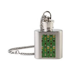 Green Beer Irish 4G phone case Flask Necklace
