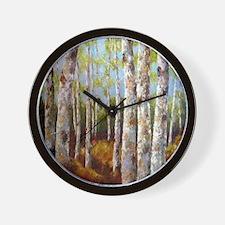 birches2 Wall Clock