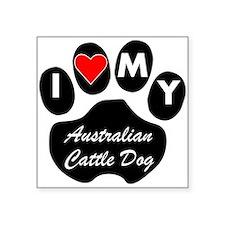 I Heart My Australian Cattle Dog Sticker
