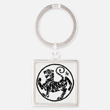 Tiger5InchAlltransparency Square Keychain