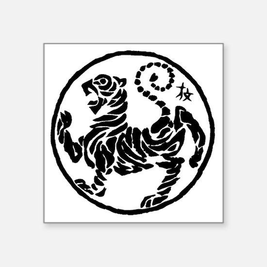 "Tiger5InchAlltransparency Square Sticker 3"" x 3"""