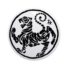 Tiger5InchAlltransparency Round Ornament