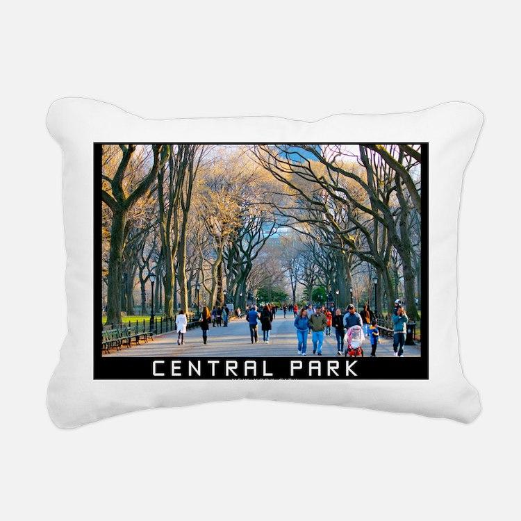 Central Park 3 Rectangular Canvas Pillow