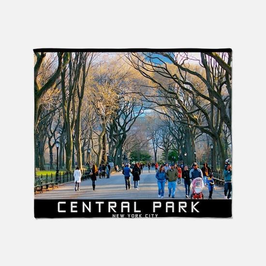 Central Park 3 Throw Blanket