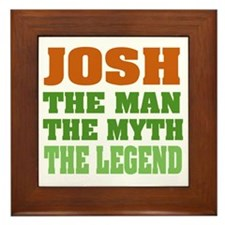 Josh The Legend Framed Tile
