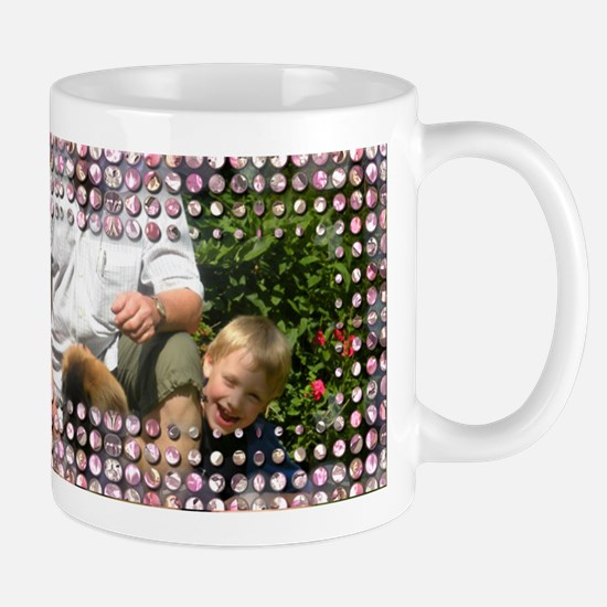 Personalizable Pink Bling Frame Mug