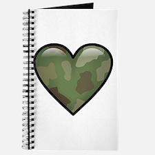 Love Military Cammo Heart Journal