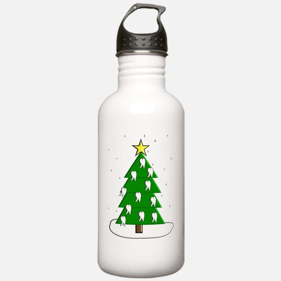 Dentist tooth christma Water Bottle