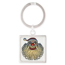 scary-clown-santa-T Square Keychain
