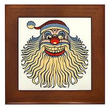 scary-clown-santa-T Framed Tile