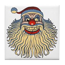 scary-clown-santa-T Tile Coaster