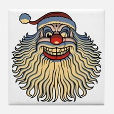 scary-clown-santa-T Tile Coaster