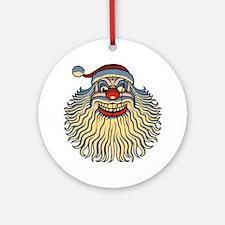 scary-clown-santa-T Round Ornament