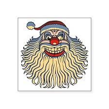 """scary-clown-santa-T Square Sticker 3"""" x 3"""""""