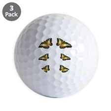 ButterGoldBlk Flip Flops Golf Ball