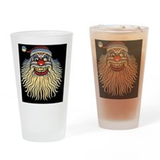 scary-clown-santa-OV Drinking Glass