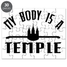My Body is a Temple Black - LDS T-Shirt Puzzle