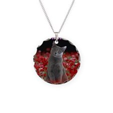 russian blue for Tea Tumbler Necklace