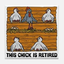 Retired Chick Tile Coaster