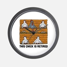 Retired Chick Wall Clock