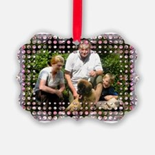Personalizable Pink Bling Frame Ornament