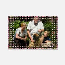 Personalizable Pink Bling Frame Rectangle Magnet